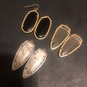 Set of 3 Kendra Scott earrings
